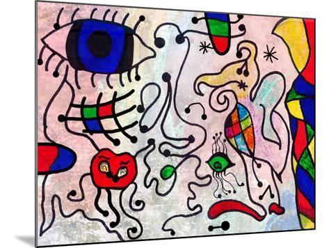 Colorful Abstract Art Painting by a Ten Years Old Child-Alexey Kuznetsov-Mounted Art Print