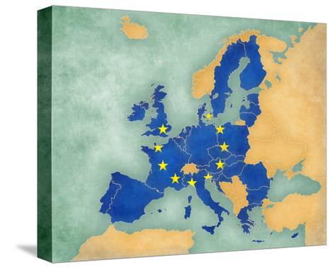 Map of Europe - European Union (Summer Style)-Tindo-Stretched Canvas Print