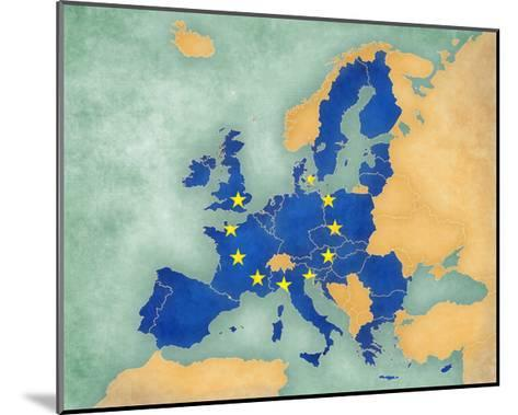 Map of Europe - European Union (Summer Style)-Tindo-Mounted Art Print