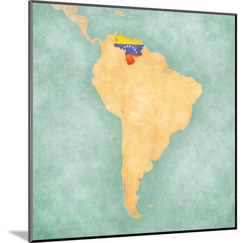 Map of South America - Venezuela (Vintage Series)-Tindo-Mounted Art Print