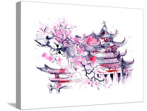 Japan-okalinichenko-Stretched Canvas Print