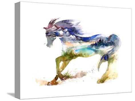 Horse-okalinichenko-Stretched Canvas Print