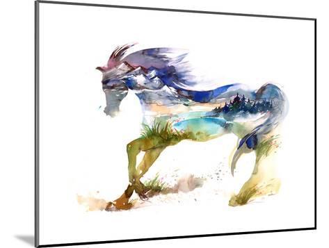 Horse-okalinichenko-Mounted Art Print