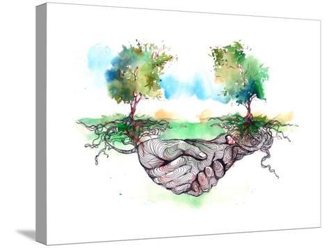 Friendship-okalinichenko-Stretched Canvas Print