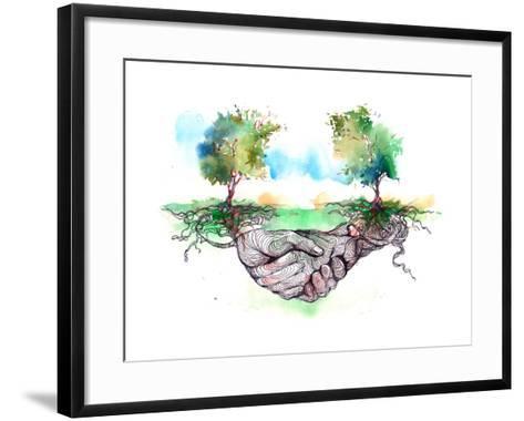 Friendship-okalinichenko-Framed Art Print