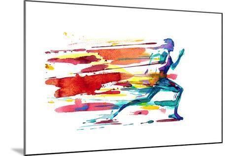 Motion-okalinichenko-Mounted Art Print