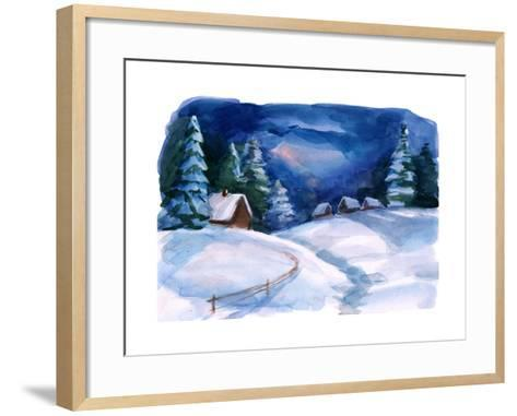 Winter Village-okalinichenko-Framed Art Print