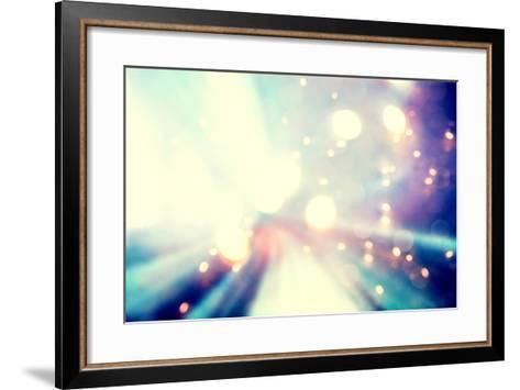 Abstract Blue and Purple Light Background-Melpomene-Framed Art Print