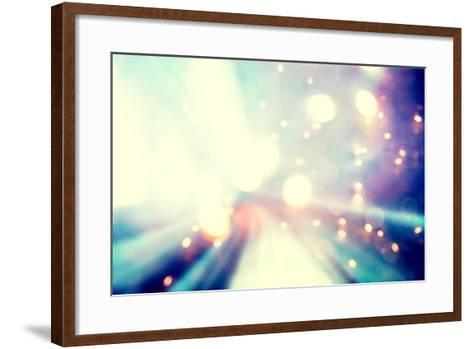 Abstract Blue and Purple Light Background-Melpomene-Framed Art Print