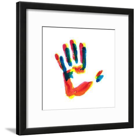 Hand Print-okalinichenko-Framed Art Print