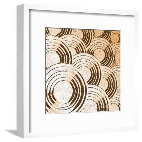 Creative Blue Circles Composition- RATOCA-Framed Art Print