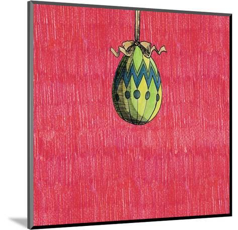 Decoration Egg for Eastereaster-tannene-Mounted Art Print