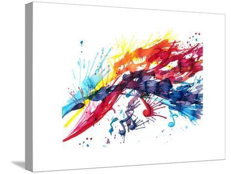 Abstract Music-okalinichenko-Stretched Canvas Print