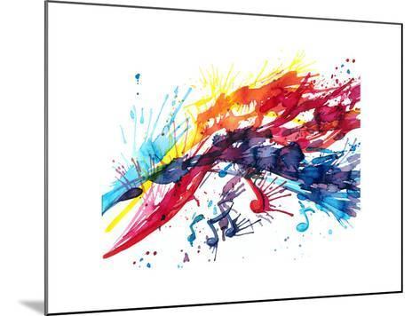 Abstract Music-okalinichenko-Mounted Art Print