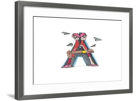 Alphabet, Letter A-tannene-Framed Art Print