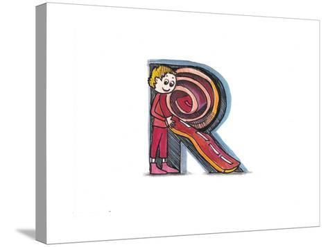 Alphabet, Letter R-tannene-Stretched Canvas Print