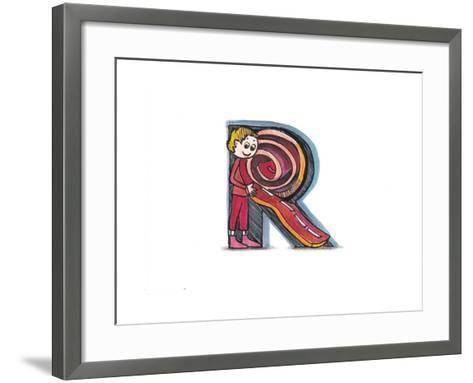 Alphabet, Letter R-tannene-Framed Art Print