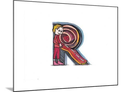 Alphabet, Letter R-tannene-Mounted Art Print