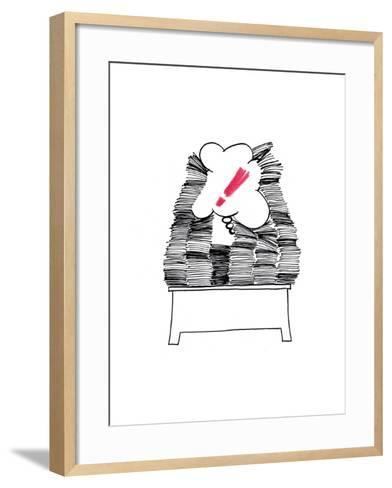 Too Much Page-tannene-Framed Art Print