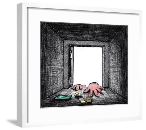 There Aren't Maney in the Safe-tannene-Framed Art Print