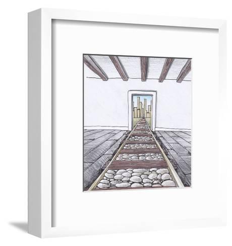 The Railway into the Room-tannene-Framed Art Print