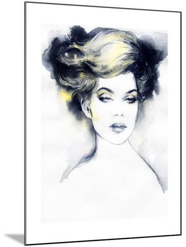 Abstract Woman Portrait-Anna Ismagilova-Mounted Art Print