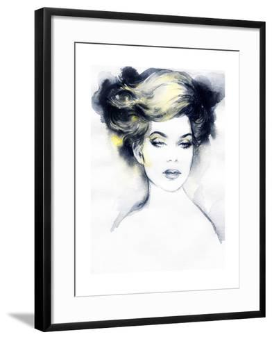 Abstract Woman Portrait-Anna Ismagilova-Framed Art Print