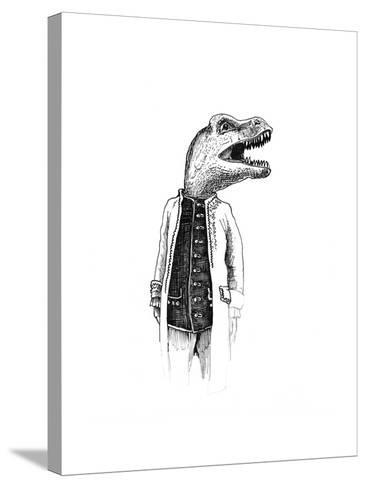 Dinosaur Gentleman-tannene-Stretched Canvas Print
