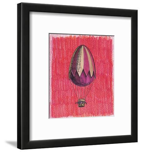 Egg Balloon for Easter-tannene-Framed Art Print