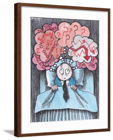 Insomnia of Businessman-tannene-Framed Art Print