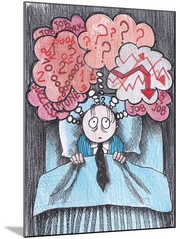 Insomnia of Businessman-tannene-Mounted Art Print