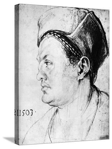 Willibald Pirckheimer, 1503-Albrecht Durer-Stretched Canvas Print