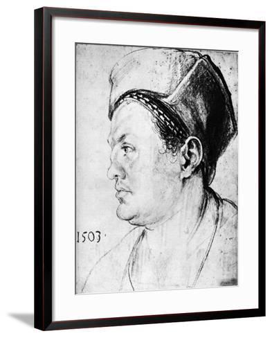 Willibald Pirckheimer, 1503-Albrecht Durer-Framed Art Print