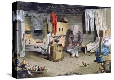 Peasant House, Russia, 1821-AC Houbigaot-Stretched Canvas Print