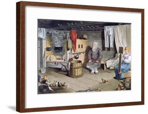 Peasant House, Russia, 1821-AC Houbigaot-Framed Art Print