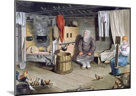 Peasant House, Russia, 1821-AC Houbigaot-Mounted Giclee Print