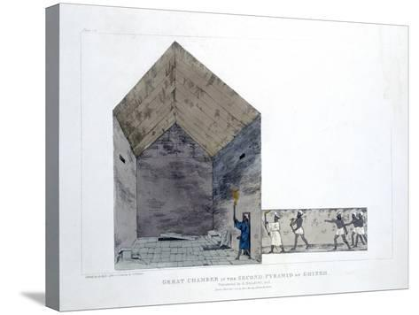 Great Chamber in the Second Pyramid of Ghizeh, Egypt, 1820-Agostino Aglio-Stretched Canvas Print