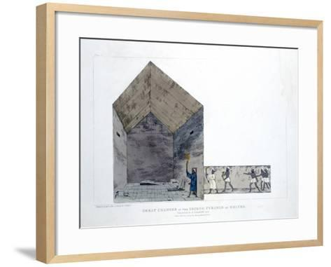 Great Chamber in the Second Pyramid of Ghizeh, Egypt, 1820-Agostino Aglio-Framed Art Print