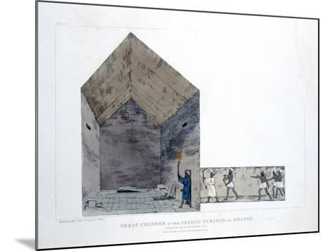 Great Chamber in the Second Pyramid of Ghizeh, Egypt, 1820-Agostino Aglio-Mounted Giclee Print