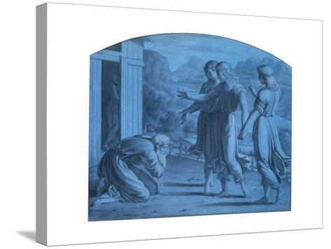 The Hospitalite of Abraham, C1820-1857-Achille Deveria-Stretched Canvas Print