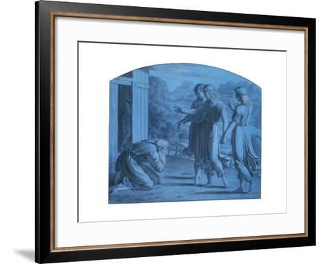 The Hospitalite of Abraham, C1820-1857-Achille Deveria-Framed Art Print
