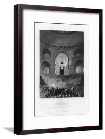 Anniversary of the London Charity Schools, St Paul's Cathedral, London, 19th Century-AH Payne-Framed Art Print