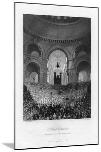 Anniversary of the London Charity Schools, St Paul's Cathedral, London, 19th Century-AH Payne-Mounted Giclee Print