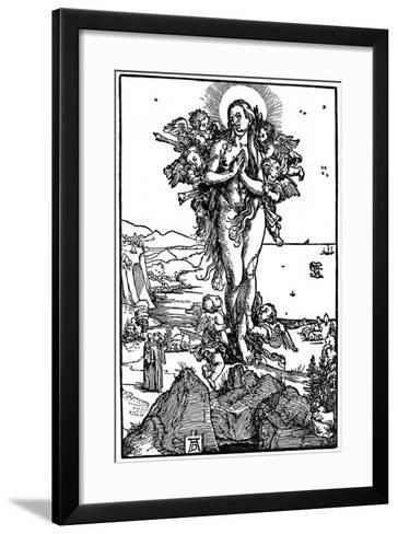 Ascension of Maria Magdalena, 1507-1510-Albrecht Durer-Framed Art Print