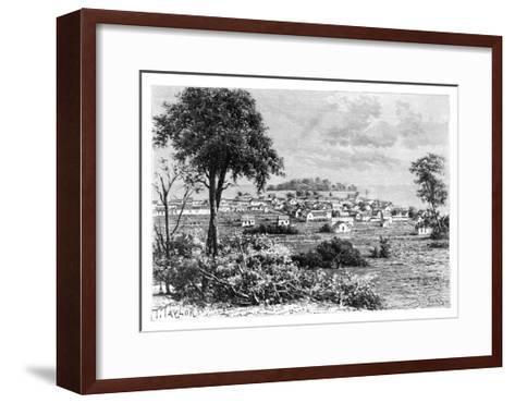 Port Limon and Uvas Island, C1890-A Kohl-Framed Art Print