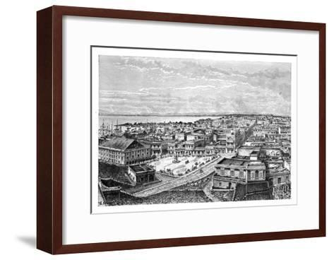 General View of San Juan Bautista, Puerto Rico, C1890-A Kohl-Framed Art Print
