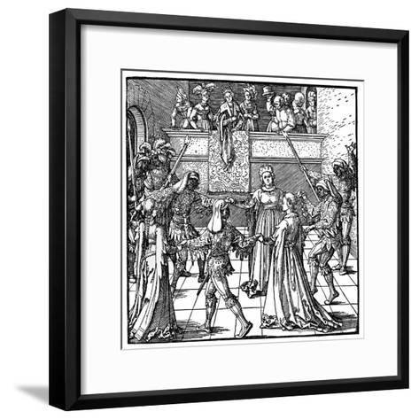Dance by Torchlight, Augsburg, 1516-Albrecht Durer-Framed Art Print