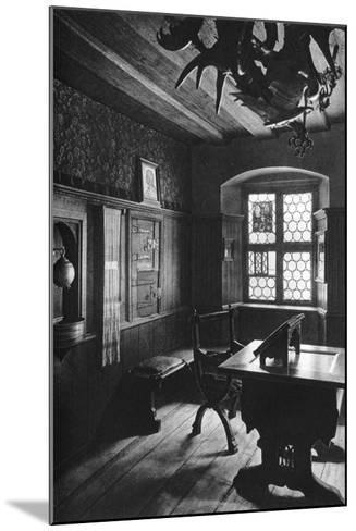 Albrecht Dürer's Work Room, Nuremberg, 1936-Albrecht Durer-Mounted Giclee Print