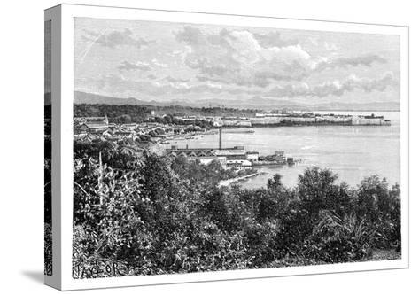 General View of Fort-De-France, Martinique, C1890-A Kohl-Stretched Canvas Print
