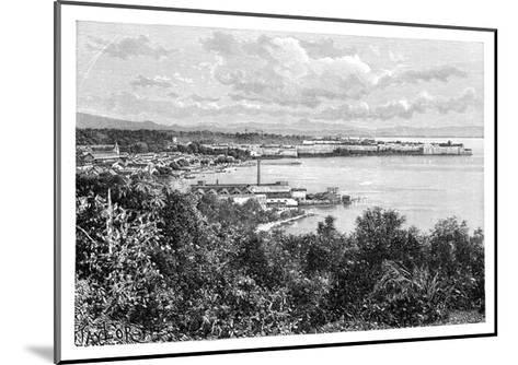 General View of Fort-De-France, Martinique, C1890-A Kohl-Mounted Giclee Print